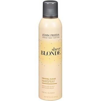 John Frieda Sheer Blonde Crystal Clear Shape and Shimmer Hair Spray, 8.5 Ounce