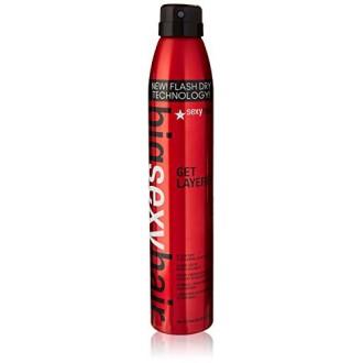 Sexy Hair Get Layered flash sec Thickening Hair Spray, 8 Ounce