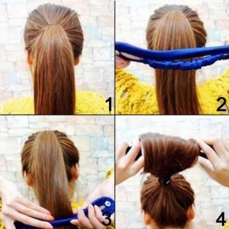 Coquilles 2PCS Classy Noir Couleur Tissu magique clip français Twist Hairstyle Donut Bun Ancien Maker Hairstyle Les incontournab