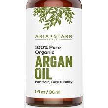 Aria Starr Beauty ORGANIC Argan Oil For Hair, Skin, Face, Nails, Beard & Cuticles - Best 100% Pure Moroccan Anti Aging, Anti