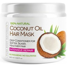 Pure Body Naturals Coconut Oil Hair Mask, 8.8 oz