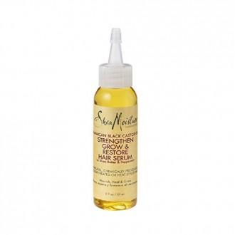 SheaMoisture jamaicana Negro Aceite de ricino Fortalecer, crecer y restauración suero de pelo, 2 onza