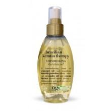 OGX Shimmering kératine huile, thérapie kératine brésilienne jamais droite, 4 oz