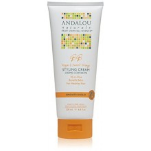 Andalou Naturals Smooth Hold Styling Cream, de argán y naranja dulce, 6,8 onza