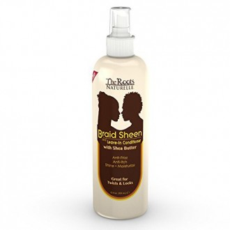 The Roots Naturelle Braid Sheen Braid Spray and Leave in Conditioner Enriched with Shea Butter, 12-Ounce