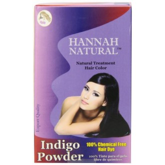 Hannah natural 100% Pure Indigo Polvo para el teñido del cabello, de 100 gramos