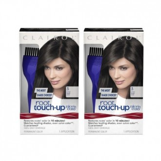 Clairol Nice 'n Easy Root Touch-Up 3 Matches Black Shades 1 Kit, (Pack of 2)