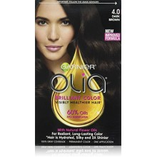 Garnier Olia Oil Powered Permanent Hair Color, 4.0 Dark Brown (Packaging May Vary)