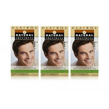 Clairol Natural Instincts Color de cabello para los hombres M11 Medium Brown 1 kit (paquete de 3)