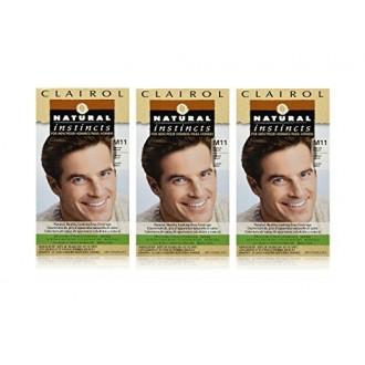 Clairol Natural Instincts Color de cabello para los hombres M11 Medium Brown 1 kit (paquete de 3)