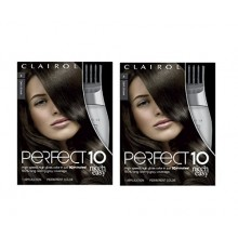 Clairol Perfect 10 Por Nice 'N Easy Color de cabello 004 Café oscuro 1 kit (paquete de 2)