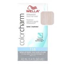 Wella Color Charm de tóner - T18 - Ash Blonde más ligero 1,4 oz (Paquete de 2)