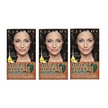 Clairol Natural Instincts 28 Nuez moscada Dark Brown 1 Kit (Pack de 3) (embalaje puede variar)