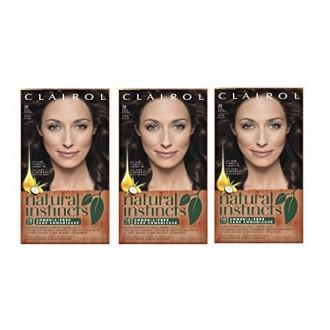 Clairol Natural Instincts 28 Nuez moscada Dark Brown 1 Kit (Pack de 3) (embalaje puede variar)