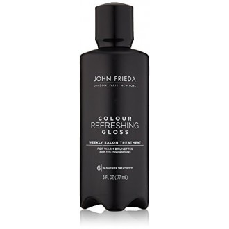 John Frieda Precision Foam color de pelo, Glosser fresca Morena, 6 onza de líquido