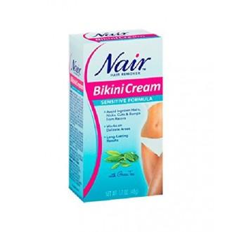 Nair Bikini Cream with Green Tea Sensitive Formula, 1.7 Oz