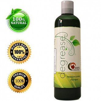 Shampoo for Oily Itchy & Greasy Hair with Rosemary & Lemon Oil + Peach Kernel + Jojoba - Natural Sulfate Free Argan Care for
