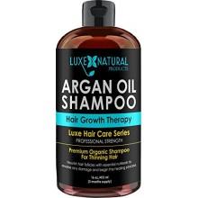 Luxe Productos Naturales aceite de argán Champú capacidad profesional - Terapia crecimiento del pelo 16 oz - la pérdida del c