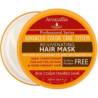 Rejuvenating Hair Mask and Deep Conditioner For Color Treated Hair with Argan Oil and Macadamia Oil By Arvazallia - Sulfate