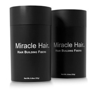 Miracle Hair PREMIUM All Natural Hair Building Fibers - Instantly Creates Thicker Looking Hair! (50g) 150 Day Supply: BLACK