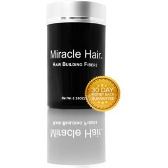 Miracle Hair Building Fibers: Full Head of Hair 60 Seconds or Less! (25g, Medium Brown)