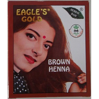 4 Boxes (10gm X 6pcs) Eagle's Gold - Brown Henna Hair Colour / Color Dye Powder Unisex (Brown)
