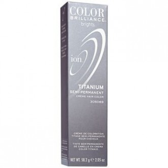 Ion Color Brilliance Brights Titanium Semi-Permanent Hair Color 2.05 oz & Beyond the Zone Rock On Hair Matte Clay 0.5 oz