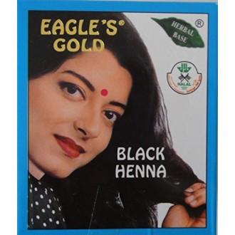 8 Boxes (10gm X 6pcs) Eagle's Gold - Black Henna Hair Colour / Color Dye Powder Unisex