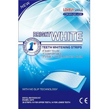 28 Teeth Whitening Strips | Lovely Smile Premium Line Professional Quality - NEW Non-Slip Tech - Teeth Whitening Kit - Tooth