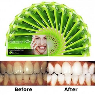 Harmony Life Teeth Whitening Strips 6%HP Professional Strength, Advanced Double Elastic Gel Strips Custom Pro Whitestrips