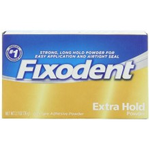 Fixodent Tenue extra Denture Adhesive Powder 2.7 Oz (Pack de 4)