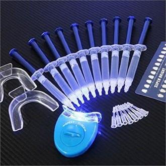EHM ALTA AURA GLOWZ dientes kit de blanqueamiento (10) ALTA AURA geles (2) bandejas (1) de luz LED blanco AURA AZUL