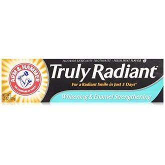 ARM & HAMMER Blanqueamiento verdaderamente radiante y esmalte fortalecimiento de pasta de dientes de menta fresca 4,3 oz - 2