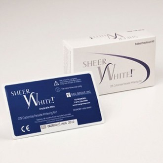 Tiras para blanquear los dientes - Sheer White! 20% de Dientes Profesional tiras de blanqueamiento Films Kit