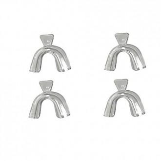 Bandejas para blanquear los dientes moldeable Thermofitting (2) pares de dientes de termoformado boca dental blanqueador bandeja