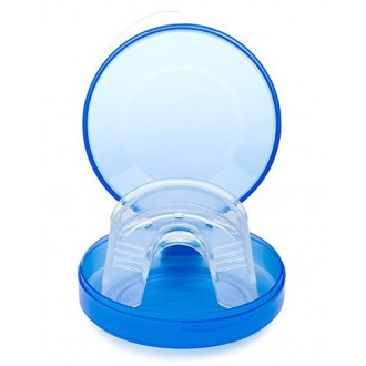 AuraGlow Teeth Whitening Mouth Tray and Retainer Case, One-Size-Fits-All Mouth Tray, No Molding Required