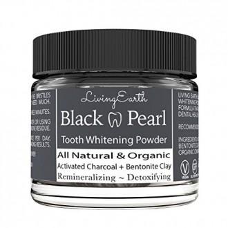 Negro perla Activado Diente de carbón en polvo - Orgánica de higiene oral - Blanqueamiento dental y Remineralizante - Antibacter
