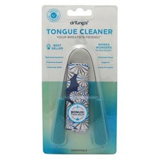 Limpiador lingual del Dr. Tung, de acero inoxidable (los colores pueden variar)