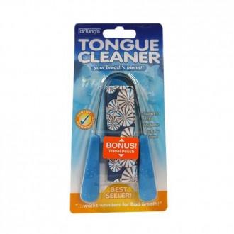 Limpiador lingual del Dr. Tung, de acero inoxidable (2) (los colores pueden variar)