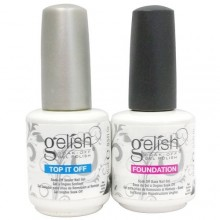 Gelish Duo Top It Off + Foundation Base Coat - 15mL (Pour Gel UV / LED Vernis à ongles)