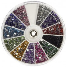 350Buy Strass 2400 Piece 12 couleurs nail art Ongles manucure Roues