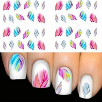 Colorful Beauty Leopard Water Transfer Stickers Nail