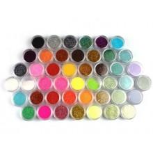45 colores de uñas de arte fabricar el cuerpo del brillo del reflejo del polvo del polvo de decoración