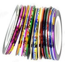 30pcs colores mezclados Rolls trazado de calidad de la cinta del arte del clavo engomada de la decoración de Y2B