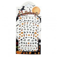 Nail Stickers / Nail Art / Nail Decals Stamping Kit Holiday Set Halloween Plate Collection DIY Decoration - 3 Sheets in Pack
