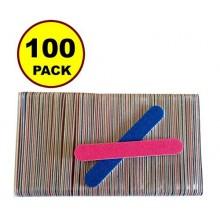 100 PCS JJMG desechable profesional de belleza Cuidado de uñas lima de uñas 100/240 grano herramienta cresent delgada Tampón