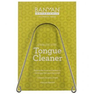 Banyan Botanicals ayurvédica limpiador lingual Raspador - Acero Inoxidable - tridoshic - Hecho en los EE.UU. - Reduce la acumula