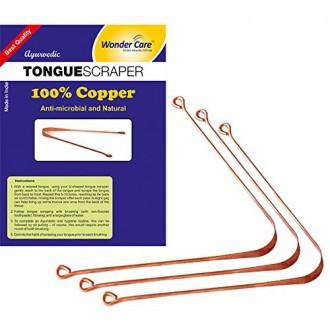 Wonder Care - 100% Raspador de cobre de la lengüeta / limpiador ayurvédica Antibacterial para la higiene bucal óptima (3 piezas)