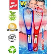 Limpiadores de calidad raspadores de lengua Hecho de Antibacteriano, libre de BPA Plastic.Tongue raspador da aliento fresco y me