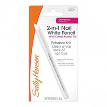 Sally Hansen 2-in-1 Nail Blanc Crayon avec cuticules Pusher - 0.03 oz